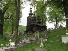Wooden church and cemetary, Slovakia