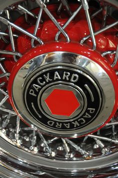 Packard wheel.  Photography by David E. Nelson