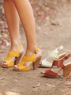Seychelles Blue Skies sandal in yellow, white, and whiskey.