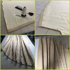 Steps in making arched top curtains by Denton Drapes