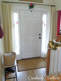 1000 Ideas About Front Door Curtains On Pinterest Door