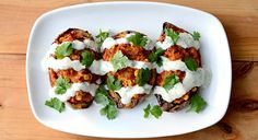 Twice Baked Sweet Potatoes with Vegan Ranch Dressing