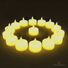 BEST FLAMELESS TEA LIGHTS(24 Pack) - LED Tea Lights Look Authentic, No Drips, No Mess - Bonus 6 Designer Decorating Bags For Free Worth $6 - Battery Tea Lights for Any Occasion:Weddings, Home Decor and Christmas - Best Quality Yellow Flickering Flame Electric Led Candles ** Details can be found by clicking on the image.