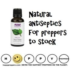 NATURAL ANTISEPTICS: It's comforting to know that there are natural antiseptics available to help heal wounds when your other medical supplies run out. Here's our list: http://happypreppers.com/antiseptics.html