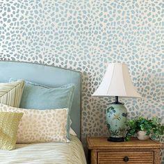 Leopard Skin stencil pattern - trendy stencils for walls, rugs, floors, fabrics! Cutting Edge Stencils