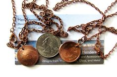 Upcycled Coin Necklace Authentic South Africa Afrika by Hendywood, $19.00