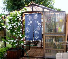 A little #greenhouse if wonderful for growing herbs for cooking and flowers for decorating the garden.