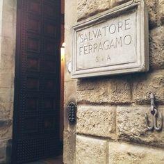 The doorway to Palazzo Feroni, Ferragamo's landmark Florentine headquarters. Florence, Italy.