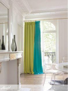 Alendel Fabrics Oscar Collection | Patterns Oscar in colour Grass & colour Turquoise Gem