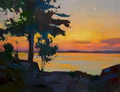 Artist: Colin Page | Page Gallery Lobster Pound, Dappled Light, Harbor House, Coastal Colors, Oil On Canvas, Gallery, Sunsets, Artist, Painting