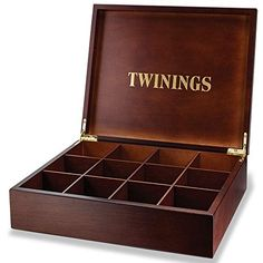 This is a lovely tea case which has 12 compartment slots and is walnut-stained which opens up to display the Twinings logo. This type of compartment box is very popular with hotels, guest houses and as a luxury birthday present. Tea Display, Different Types Of Tea, Premium Tea, Chinese Greens, Tea Benefits, Tea Box, Walnut Stain, Luxury, Guest Houses