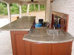 Outdoor Kitchen Concrete Countertop