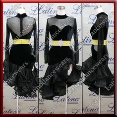 LATIN RHYTHM SALSA BALLROOM COMPETITION DANCE DRESS - SIZE S, M, L (LT922) #LatinoDancewears