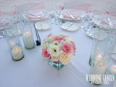 #pink and #white #centerpiece latinasia.flowers@gmail.com www.weddingcancun.mx