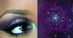 Galaxy Eyes Diy Beauty, Beauty Makeup, Hair Makeup, Face Awards, Galaxy Eyes, Make Up Tricks, Easy Makeup Tutorial, Makeup Tips, Makeup Tutorials