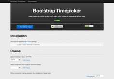 #Bootstrap Timepicker - Via http://www.themangomedia.com/blog/the-quintessential-guide-to-bootstrap-and-its-pros/ @teammangomedia