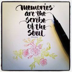 Memories by #saltlightcalligraphy  https://www.facebook.com/salt.lightcalligraphy #calligraphy