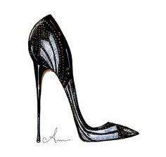 Pump Perfection, inspired by Brian Atwood -- anum tariq illustrations