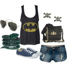 Heck yes I would sport this!!!!!  Holy fashion, Batman, created by xoxjordyn on Polyvore