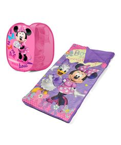 Look at this Disney Minnie Mouse Sleeping Bag & Hamper Set on #zulily today!