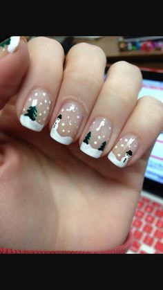 Snowglobe nails:)