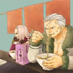 One Piece, Smoker, Hina.