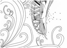 Le Creazioni di Kiara: crazy for DOODLING #20 ... FEATHERS ... piume piumette e piumaggi!