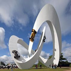 DesignerGerry Judahhas created this white knotted sculpture of a race track for car brandLotusatGoodwood Festival of Speed, which took place in West Sussex last weekend.