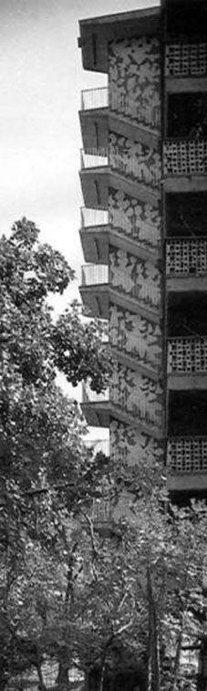 Centro Urbano Presidente Juárez creado por el  Arquitecto Mario Pani Darqui en 1950 – 1952, el cual fue severamente dañado por el sismo de 1985.