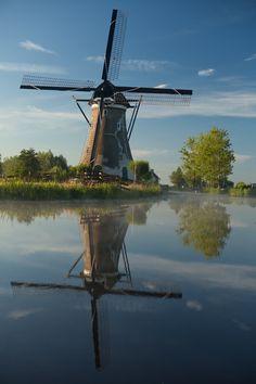Dutch windmill, Haastrecht, Zuid Holland.