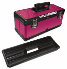 The Original Pink Box PB20MTB 20-Inch Steel Tool Box, Pink by The Original Pink Box. $30.24. From the Manufacturer                20-Inch Pink Steel Tool Box with light weight plastic base. Strong rubber grip handle for comfort. Removable plastic tray. Great for storing tools, make-up, jewelry, fishing supplies, gardening.                                    Product Description                The Original Pink Box, known for being the first line of pink tool boxes and gara...