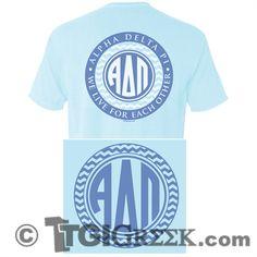 TGI Greek - Alpha Delta Pi - Comfort Colors - Greek T-shirts #TGIGreek #AlphaDeltaPi