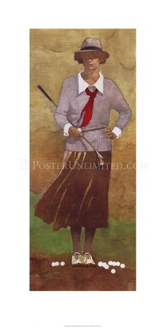 Poster Art:  Vintage Woman Golfer by Bart Forbes.  And still the Atlanta National Golf Club refuses membership to women.