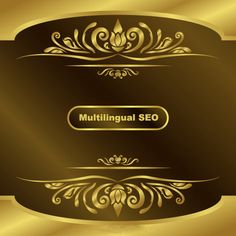 Multilingual SEO Service - We offer search engine optimization service in different languages. Marketing Process, Gold Background, Text Design, Seo Services, Search Engine Optimization, Digital Marketing, Vector Free, Card Making, Retro