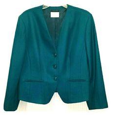 Pendleton 100 % virgin wool suit jacket Pendleton 100 % virgin wool suit jacket in teal.  Size 18.  See coordinating suit in navy/teal. Price firm unless bundled. Pendleton Jackets & Coats Blazers