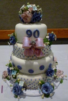 90th Birthday Cake Cakes Celebration Amazing
