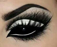 Dark make up, goth, black and white