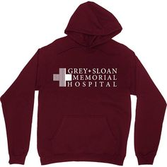 Amazing offer on NuffSaid Grey Sloan Memorial Hospital Hooded Sweatshirt Sweater Hoodie Pullover - Premium Quality online - Allfashiondress Grey's Anatomy Clothes, Sweater Hoodie, Pullover, Hooded Sweatshirts, Hoodies, Memorial Hospital, Mens Clothing Styles, Greys Anatomy, Stylish Outfits