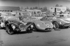 Allard K2 in good company. Karlskoga Raceway (Sweden), 1966 Cannon race. Allard K2 (Jan Bellander), Maserati 200S (Olle Leufén) and Ferrari 750 Monza (Björn Bellander)