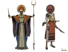 Pirate Cultural Exploration by Brian Matyas. Designs for a northern African inspired pirate culture for a cancelled game project Fantasy Character Design, Character Design Inspiration, Character Concept, Character Art, Concept Art, Black Characters, Fantasy Characters, Superhero Characters, Tag Art