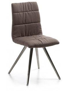 ++TS+LARK2+chaise+avec+tissu+de+siège+IX+seul+brun.Structure+en+acier+inox.+++++++ATTENTION+dans+la+photo+montre+la+version+en+métal+verni.++++++++++++++++ +++++++++ +++++