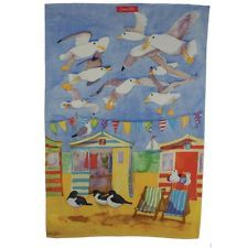 Emma Ball Seaside Beach Seagulls Tea Towel NEW