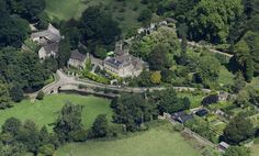Iford Manor Estate in Wiltshire - UK aerial image by John Fielding #iford #manor #estate #wiltshire #aerial