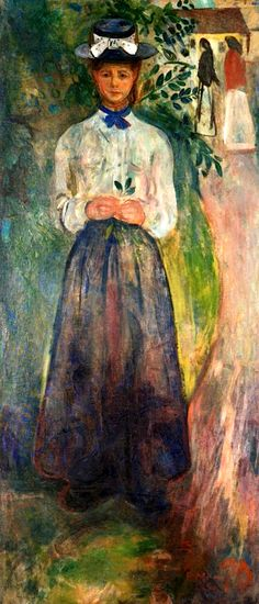 bofransson:  Young Woman among Greenery Edvard Munch - 1904