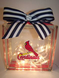 St. Louis Cardinals Lighted Glass Block on Etsy, $35.00
