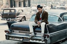 Cadillac Fleetwood in Harlem, 1970.