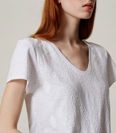 Primary Image of Embroidered Vintage Soft Tee