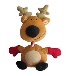Iconic Pet Christmas Reindeer RopeSqueaky Stuffed Plush Holiday Pet Dog Toy * See this great product. (Note:Amazon affiliate link) #DogToys