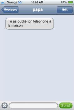 Les textos entre les parents et leurs enfants les plus drôles qui aient jamais été envoyés. Du génie !