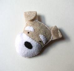 Hey, I found this really awesome Etsy listing at https://www.etsy.com/listing/180456700/schnauzer-dog-felt-brooch-light-gray